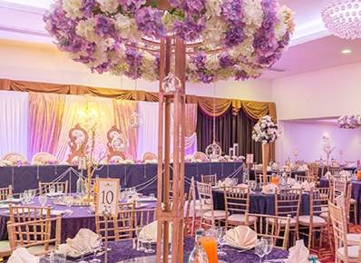 Grand Ballroom decorated for a Wedding